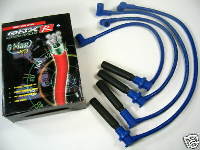 OBX Racing Blue Spark Plug Ignition Wires for 91-94 95-98 Nissan 240SX S13 S14