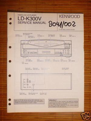 Service-Manual Kenwood LD-K300V CD-CDV-LD Pla ,ORIGINAL