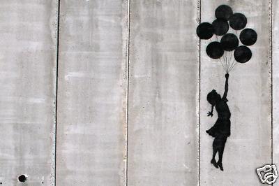 "Banksy - Graffiti Balloon Girl 24""x36"" Canvas Print"