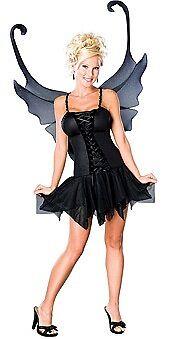 Dark Fairy Women Adult Costume Small Licensed New