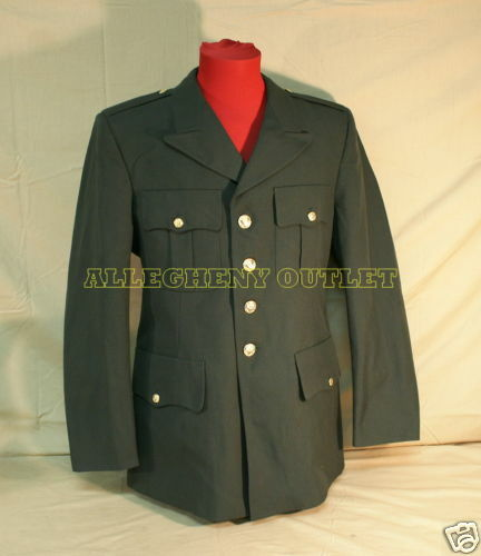 COAT MENS US ARMY GREEN AG489 CLASS A DRESS JACKET SERVICE SUIT UNIFORM 39S EXC