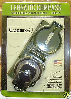 CAMMENGA LENSATIC COMPASS SURVIVAL USED on MAN vs WILD CAMPING HUNTING HIKING