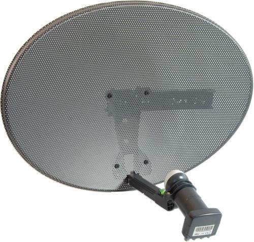 Zone 1 Sky Satellite Dish Quad LNB Freesat PVR HD Plus Mk 4 New Free P+P