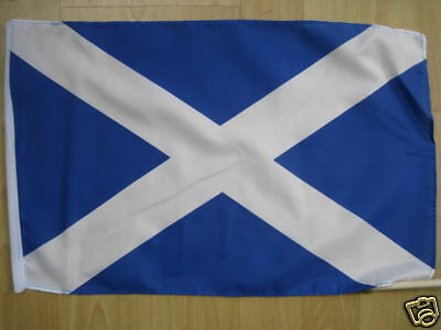 "SCOTLAND saltire 18"" x 12"" National  flag with hem"