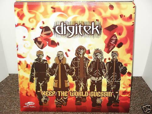 DIGITEK / KEEP THE WORLD GUESSIN' DBL LP OG 2004 UK HIP HOP VINYL ZEBRA TRAFFIC