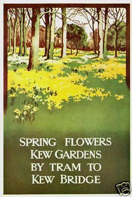 1911 London Transport Kew Gardens Poster A3 Print