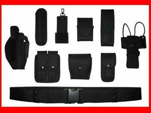 POLICE-SECURITY-MODULAR-EQUIPMENT-SYSTEM-DUTY-BELT-NICE-Molded-Nyon-Set