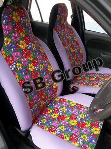 vw beetle bora car seat covers flowers ebay. Black Bedroom Furniture Sets. Home Design Ideas
