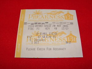 BARBARO-2-WIN-TICKET-2006-PREAKNESS-STAKES-HORSE-RACE
