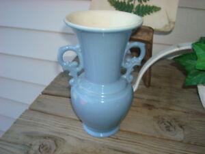 Vintage Small Two Handled Blue Abingdon Vase Org