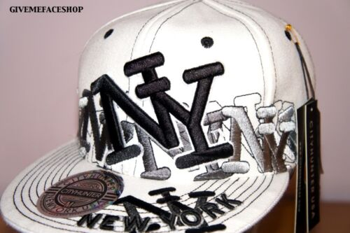 ALL COLOURS FLAT PEAK HAT HIP HOP NY BLOCK FITTED CAP