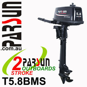 5-8HP-PARSUN-Outboard-2-stroke-Short-Shaft-BRAND-NEW-2yr-FULL-FACTORY-Warranty