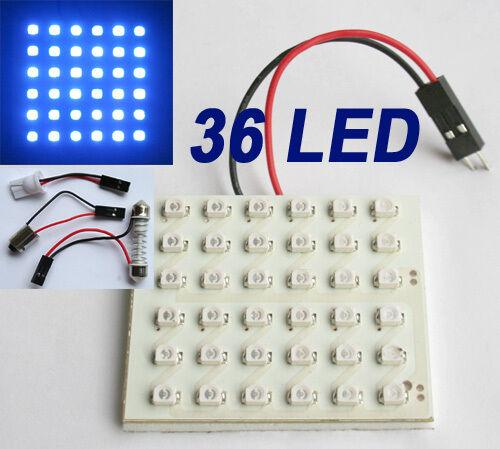 2pcs Blau Auto 36 SMD 3528 LED Panel Licht +T10/BA9s Soffitte Modul 12V DC