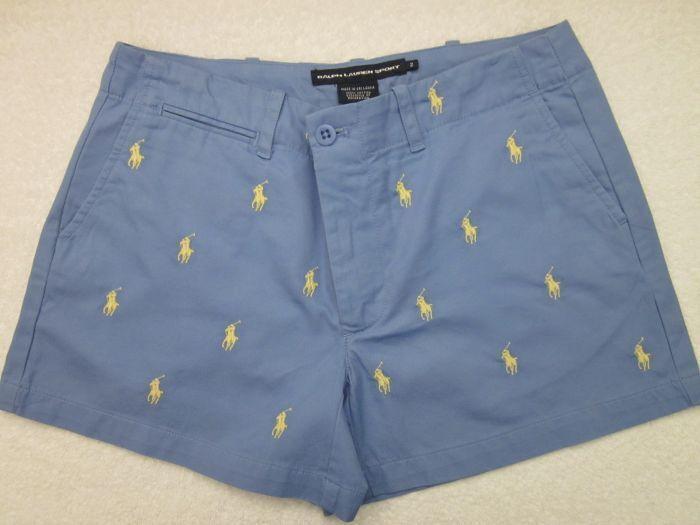 Polo Ralph Lauren bluee Yellow Pony Shorts NWT 12