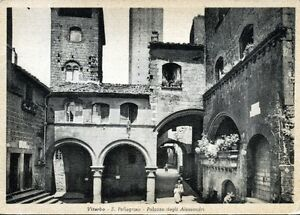 034-VITERBO-S-Pellegrino-Palazzo-degli-Alessandri-034-Viaggiata-Anno-1952