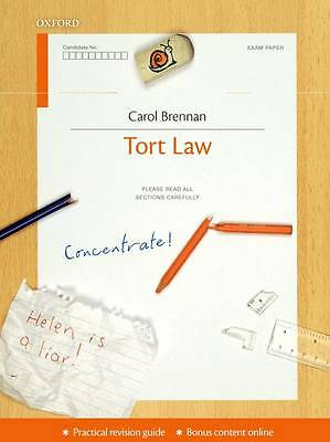 Tort Law Concentrate: Law Revision and Study Guide, Brennan, Carol, Very Good Bo