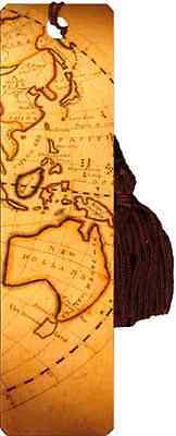Australia map bookmark with tassel