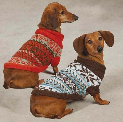 Snow Lodge Dog Turtleneck Sweater Pet  Zack & Zoey Pet Apparel brown orange NEW