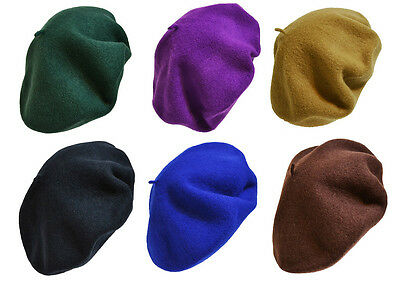 NEW WOMEN'S WARM 100% WOOL FRENCH BERETS TAM BEANIE SLOUCH HAT