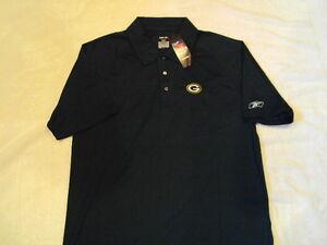 GREEN-BAY-PACKERS-Logo-NFL-Hunter-Reebok-Play-Dry-Polo-Sideline-Golf-Shirt-NEW