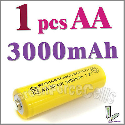 1 AA 3000mAh Ni-MH rechargeable battery cell /RC yellow