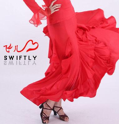Latin salsa flamenco Ballroom Dance Dress #M075 skirt