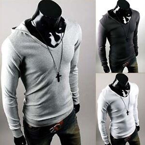 Mens-Stylish-Slim-Fit-Hoody-Shirts-4-color-XS-XL