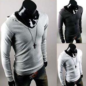 Mens-Stylish-Slim-Fit-Hoody-Shirts-4-color-XS-XL