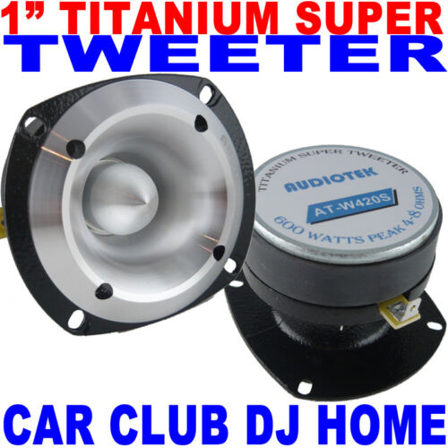 "AudioTek AT-W420S High Performance 3"" Super Bullet Tweeter 600W Max 1"" Titanium"