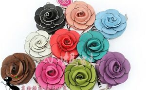 New-Design-Cute-Camellia-Rose-Faux-Leather-10-Colors-Coin-Bag-Purse-Free-S-amp-H
