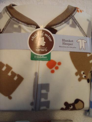 CARTERS OR DISNEY Boys Fleece Blanket Pajama Sleepwear Choice 5T 18 Month NWT