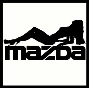 X MAZDA VINYL CAR STICKERS DECALS SEXY FUNNY CUSTOM Emblem - Car sticker decals