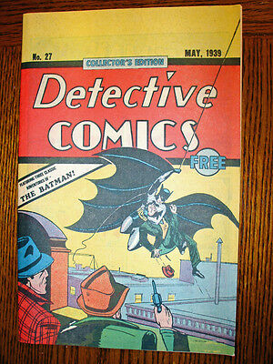 Detective Comics #27 - 1st Batman  ( Early 1980's  Oreo Cookies giveaway)