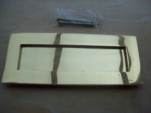 Solid Brass Victorian Letterbox Finished in Polished Satin Brass Letter Plate 10x4