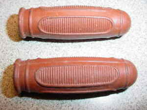 BICYCLE-GRIPS-VINTAGE-BROWN-FOR-TRIKES-SMALL-BIKE-NOS