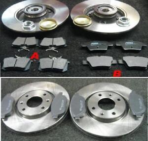 peugeot 307 xsi hdi sport 136bhp brake discs brake pads front rear