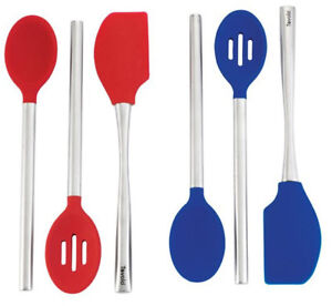 Tovolo-Stainless-Steel-Spoon-and-Spatula-Set-3-Piece-Red-or-Blue