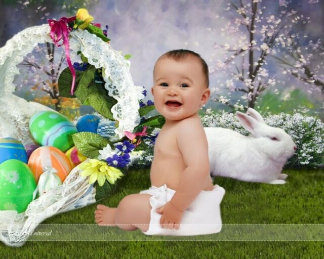 "DIGITAL ""EASTER SPRING"" STUDIO PORTRAITS BACKGROUNDS BACKDROPS PROPS KIDS*"