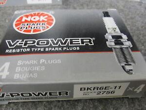 NGK BKR6E-11 V-Power Spark Plugs New 4 Pack