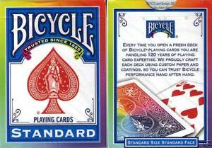 Bien Carte Da Gioco Bicycle Rainbow Back ,poker Size