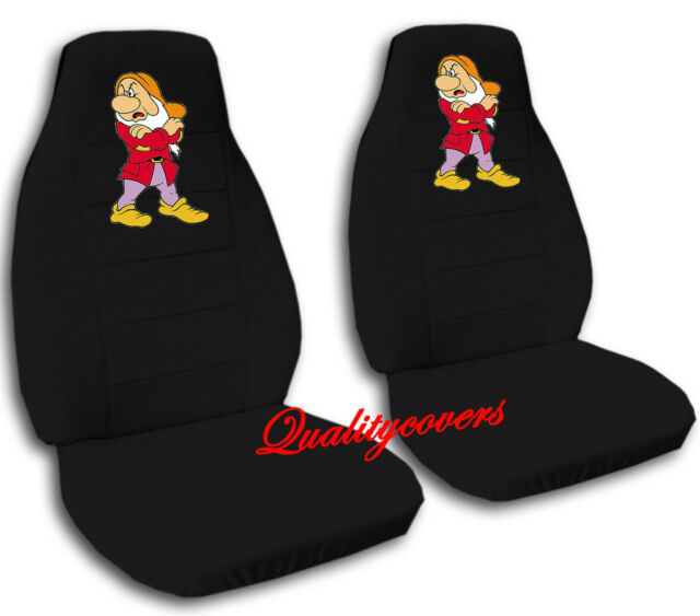 cute set grumpy front car seat covers black ,OTHER COLORS &BACK AVAILABLE