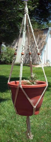 "BEADS-CHOOSE CORD COLOR For a WIDE POT MACRAME PLANT HANGER 40/"" Vintage 4mm"