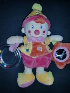 doudou-peluche-clown-fille-rose-VETIR-GEMO-27cm-2-dispo