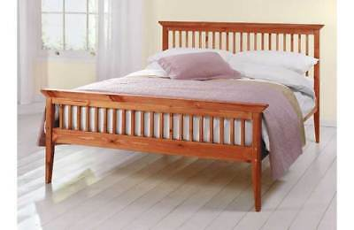Single Bed + Mattress FREE UK DELIVERY 24hr PINE 3ft Shaker Caramel