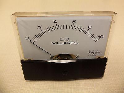 """Dc. Panel METER 0 - 10 MilliAmp. 4"""" X 3 1/2"""" NEW For CB Radio Ham Amp Amplifier"""