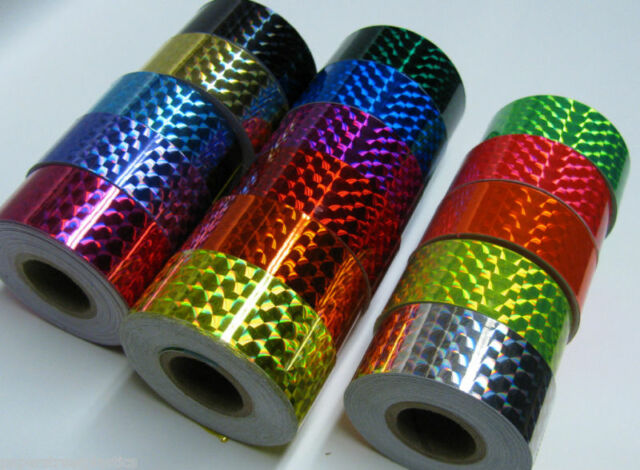 Prism Hoop Tape, 1 Inch x 25 feet, Choose Your Color, Holographic Irridescent