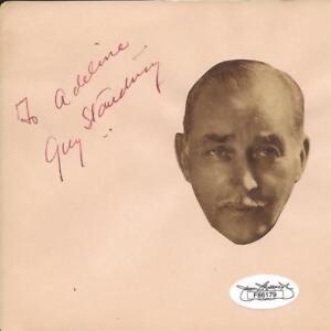 Sir-Guy-Standing-D-1937-Signed-Vintage-Album-Page-2-JSA