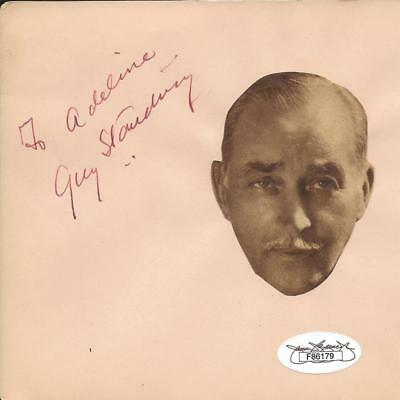 Signed Vintage Album Page #2 Jsa At All Costs Sir Guy Standing d. 1937
