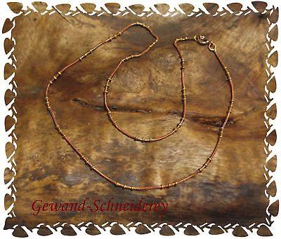 Bronzekette Kette aus Bronze mit Messingkugeln  45cm