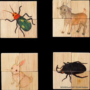 VOILA-TOY-eco-friendly-wooden-15-ANIMALS-JIGSAW-PUZZLE-cute-fun-EDUCATIONAL-TOY